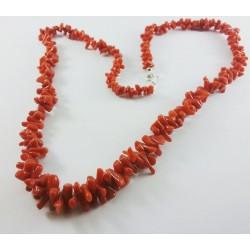 Collana corallo rosso naturale a pezzetti