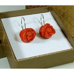 """Orecchini Rosa di corallo """"grande"""""""