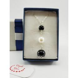 Collanina argento perla e su coccu